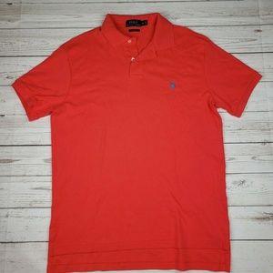 Ralph Lauren Mens Polo Shirt M Peach Custom Fit